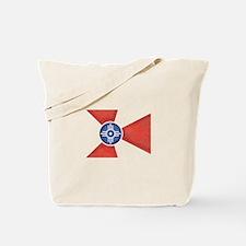 Vintage Wichita Kansas Flag Tote Bag