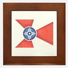 Vintage Wichita Kansas Flag Framed Tile