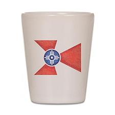 Vintage Wichita Kansas Flag Shot Glass
