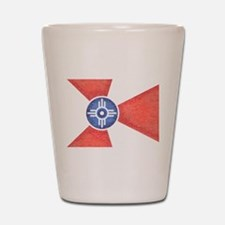 Vintage Wichita Kansas Flag Shot Glass