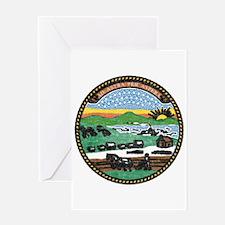 Kansas Vintage State Flag Greeting Card