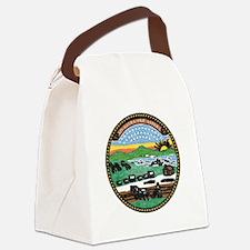 Kansas Vintage State Flag Canvas Lunch Bag
