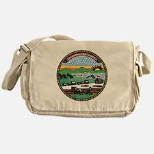 Kansas Vintage State Flag Messenger Bag