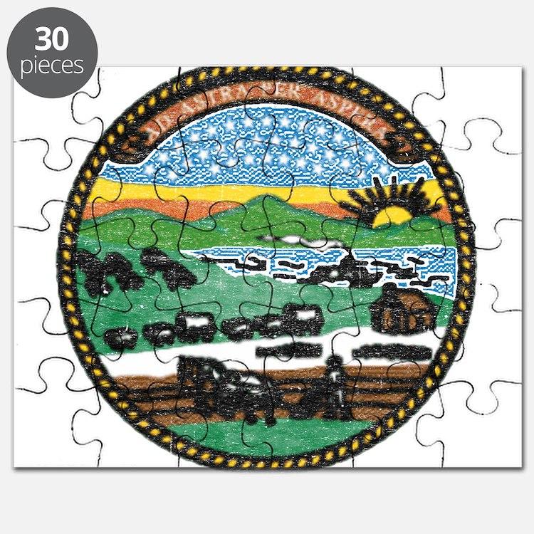 Kansas Vintage State Flag Puzzle