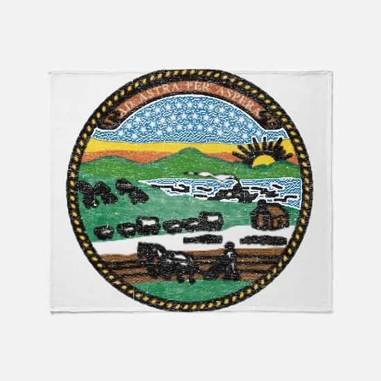 Kansas Vintage State Flag Throw Blanket