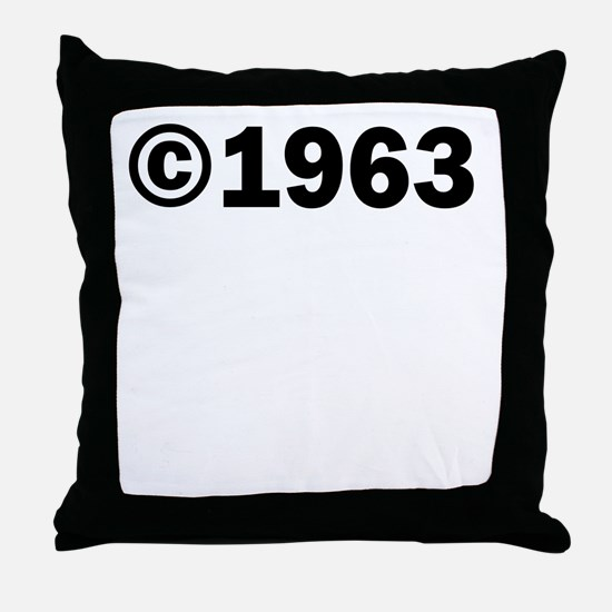COPYRIGHT 1963 Throw Pillow