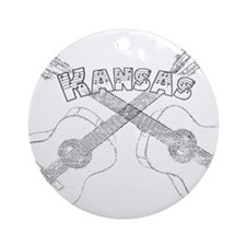 Kansas Guitars Ornament (Round)