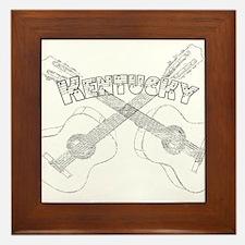 Kentucky Guitars Framed Tile