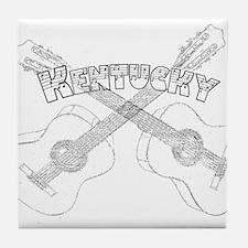 Kentucky Guitars Tile Coaster