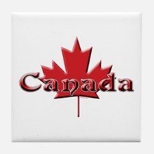 Canada: Maple Leaf Tile Coaster