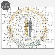 Kentucky Vintage State Flag Puzzle