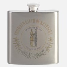 Kentucky Vintage State Flag Flask