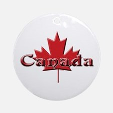 Canada: Maple Leaf Ornament (Round)