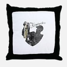 Kentucky Fishing Throw Pillow