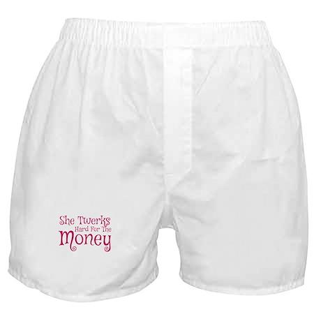 She Twerks Hard For The Money Boxer Shorts