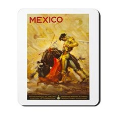Vintage Mexico Bullfight Travel Mousepad