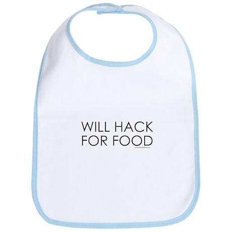 Will Hack for food Bib