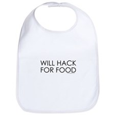 Will Hack for food Bib