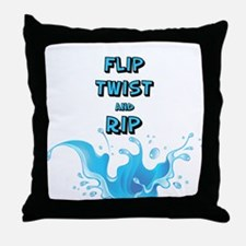 Flip, Twist and Rip Throw Pillow