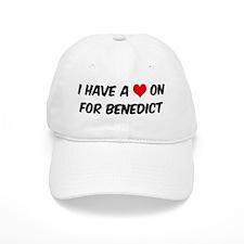 Heart on for Benedict Baseball Cap