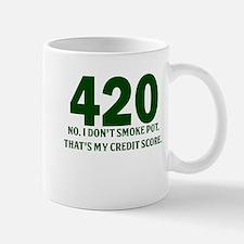 420 No I Dont Smoke Pot Thats My Credit Score Small Mugs