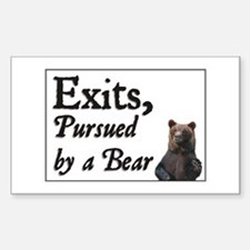 Exits, Pursued by a Bear Rectangle Decal
