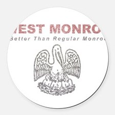 Faded West Monroe Round Car Magnet