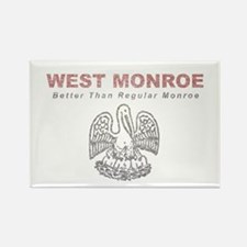 Faded West Monroe Rectangle Magnet