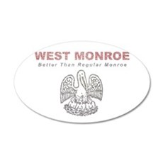 Faded West Monroe Wall Decal