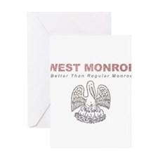 Faded West Monroe Greeting Card