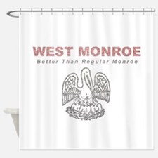 Faded West Monroe Shower Curtain