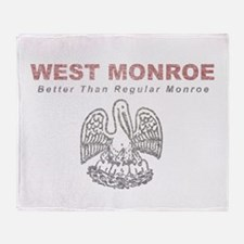 Faded West Monroe Throw Blanket