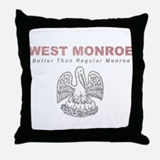 Faded West Monroe Throw Pillow
