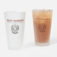 Faded West Monroe Drinking Glass