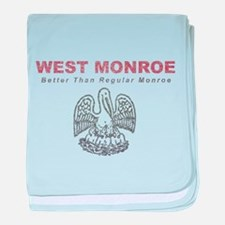 Faded West Monroe baby blanket