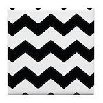 Black and White Chevron Tile Coaster