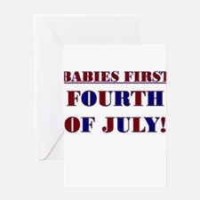 BABIES FIRST FOURTH OF JULY Greeting Card