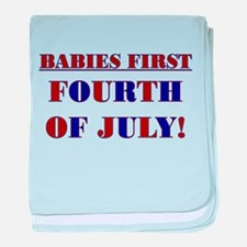 BABIES FIRST FOURTH OF JULY baby blanket