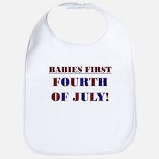 BABIES FIRST FOURTH OF JULY Bib