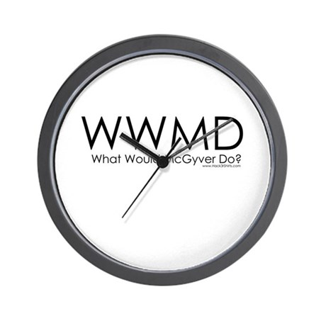 What Would McGyver Do? Wall Clock