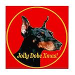 Jolly Dobe Xmas Tile Coaster