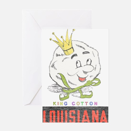 Louisiana King Cotton Greeting Card
