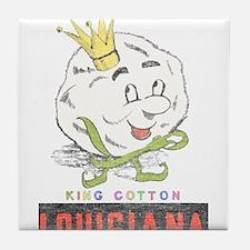Louisiana King Cotton Tile Coaster