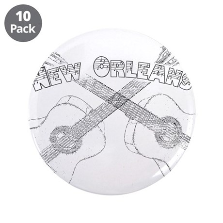"New Orleans Guitars 3.5"" Button (10 pack)"