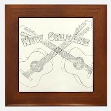New Orleans Guitars Framed Tile