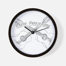 New Orleans Guitars Wall Clock
