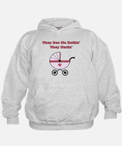 THEY SEE ME ROLLIN THEY HATIN PINK Hoodie