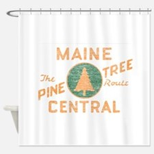 Pine Tree Route Shower Curtain
