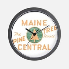 Pine Tree Route Wall Clock
