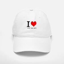 I Heart (Personalized Text) Baseball Baseball Baseball Cap